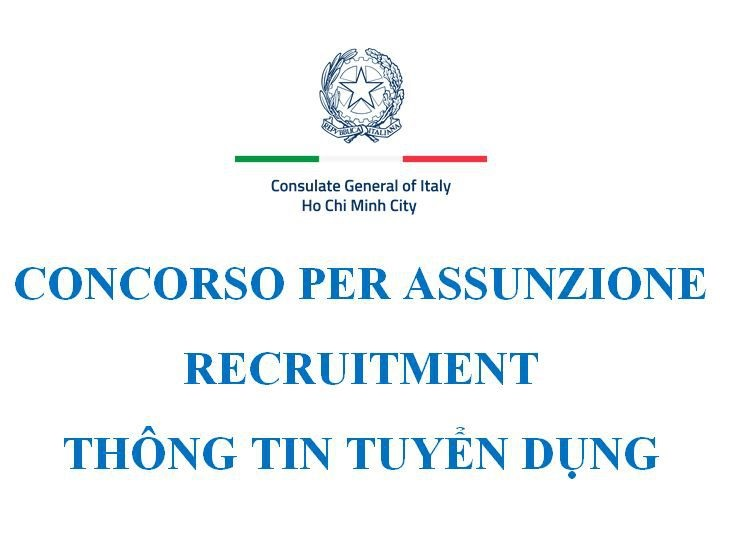 Consulate General of Italy in HCMC Job Announcement