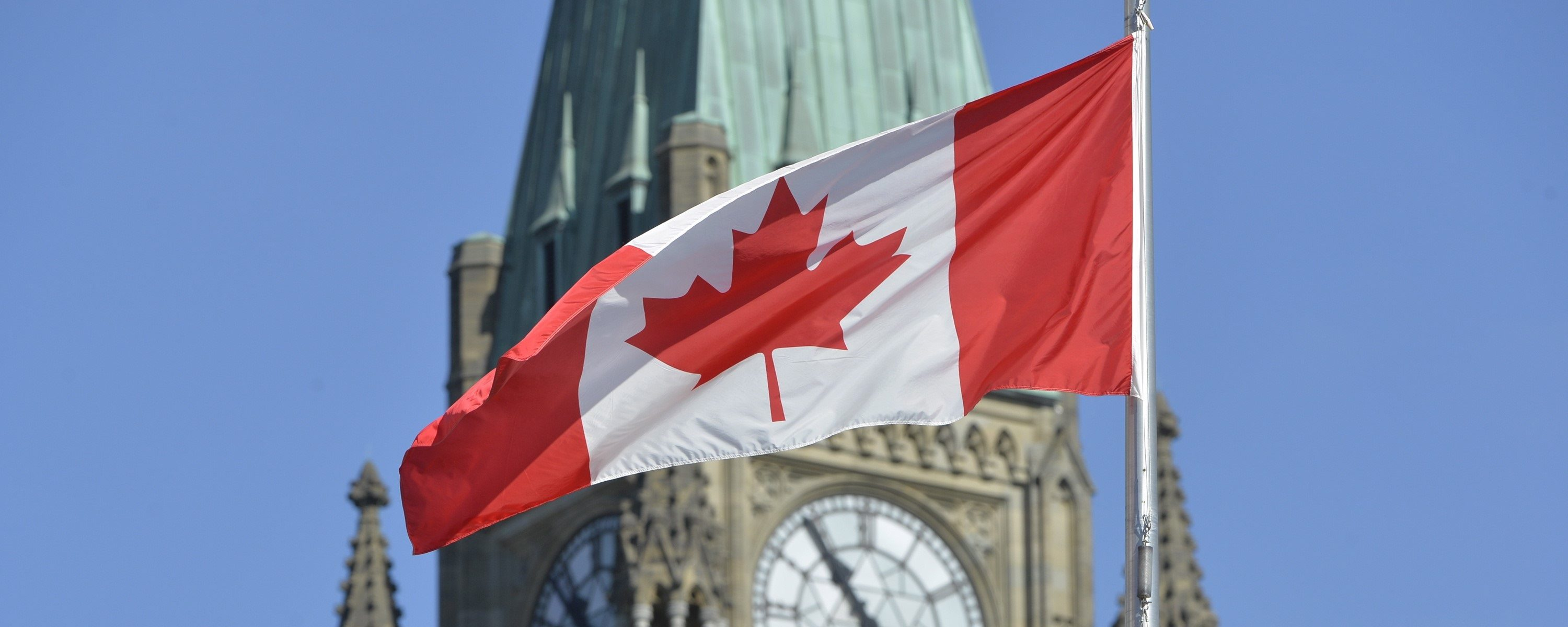 Canadian Flag and parliament